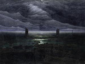 Sea Shore in Moonlight, 1835-36 by Caspar David Friedrich