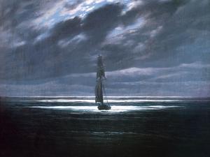 Seascape in Moonlight, 1830/35 by Caspar David Friedrich