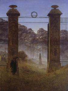 The Cemetery, 1825 by Caspar David Friedrich