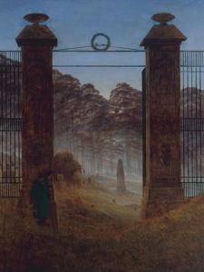 The Cemetery, Ca 1825 by Caspar David Friedrich