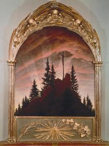 The Cross in the Mountains, 1808 (For the Private Chapel of the Earl Von Thun in Tetschen) by Caspar David Friedrich