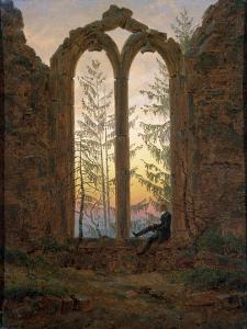 The Dreamer (Ruins of the Oybi), C1835 by Caspar David Friedrich