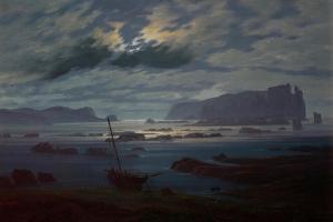 The Northern Sea in Moonlight, 1823-24 by Caspar David Friedrich