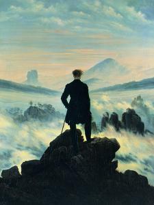 The Wanderer Above the Mists by Caspar David Friedrich
