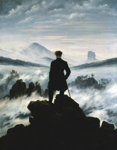 The Wanderer Above the Sea of Fog, c.1818 by Caspar David Friedrich