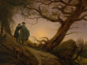 Two Men Contemplating the Moon, c.1825–30 by Caspar David Friedrich