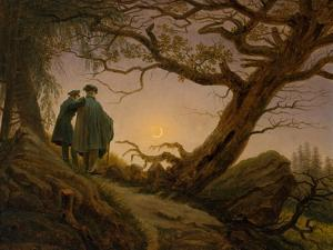 Two Men Contemplating the Moon, c.1825–30 by Caspar David Friedrich