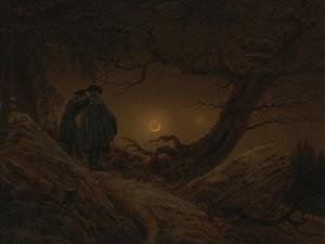 Two Men Looking at the Moon, 1819/1820 by Caspar David Friedrich