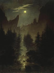 Uttewalder Grund, C. 1825 by Caspar David Friedrich