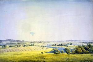 View over Putbus, 1824-1825 by Caspar David Friedrich