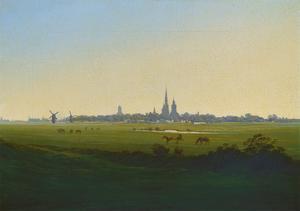 Wiesen Bei Greifswald, um 1822 by Caspar David Friedrich