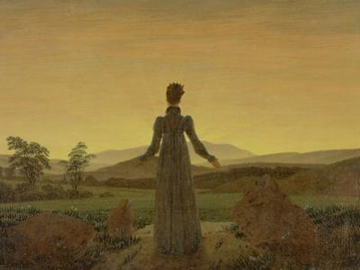 Woman at Dawn, about 1818 by Caspar David Friedrich