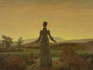 Woman at Dawn, about 1818 by Caspar David Friedrich