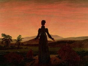 Woman at Dawn by Caspar David Friedrich