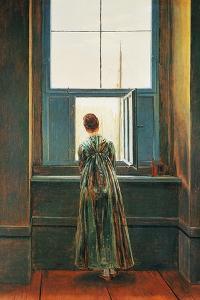 Woman at Window by Caspar David Friedrich