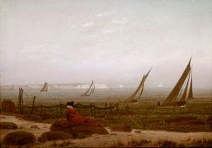 Woman on the Beach at Rugen, 1818 by Caspar David Friedrich