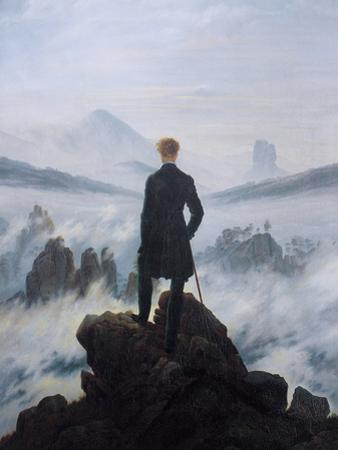 Caspar Friedrich Wanderer Above the Sea of Fog Art Print Poster