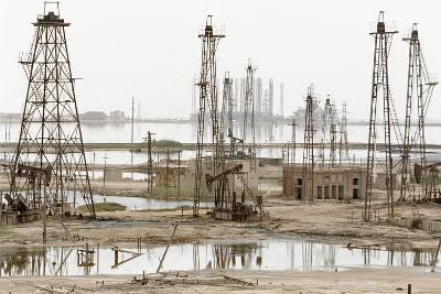 Caspian Sea Oil Rigs-Ria Novosti-Photographic Print