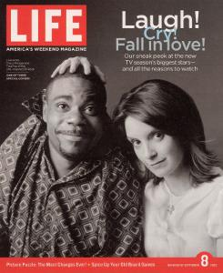 TV Co-stars Tracy Morgan and Tina Fey, September 8, 2006 by Cass Bird