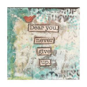 Dear You Never Give Up by Cassandra Cushman