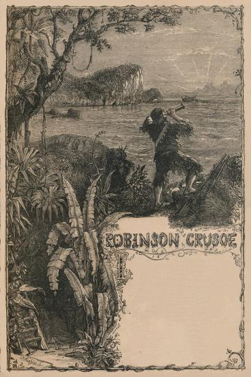 'Cassell's Robinson Crusoe', c1870-Unknown-Giclee Print