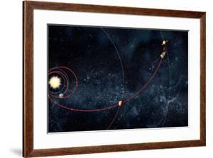 Cassini Spacecraft Orbital Route