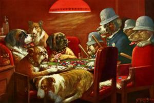 Pinched With Four Aces by Cassius Marcellus Coolidge
