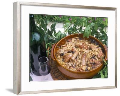 Cassoulet De Carcassonne, Hameau De Saint Martin, Languedoc-Roussillon, France-Bruno Barbier-Framed Photographic Print