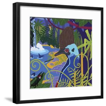 Cassowary In The Rainforest-Cindy Wider-Framed Giclee Print