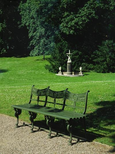 Cast Iron Bench and Fountain-Karl Friedrich Schinkel-Giclee Print