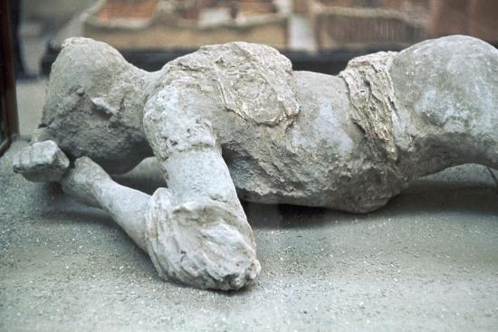 Cast of a victim of the eruption of Vesuvius, 1st century-Unknown-Giclee Print