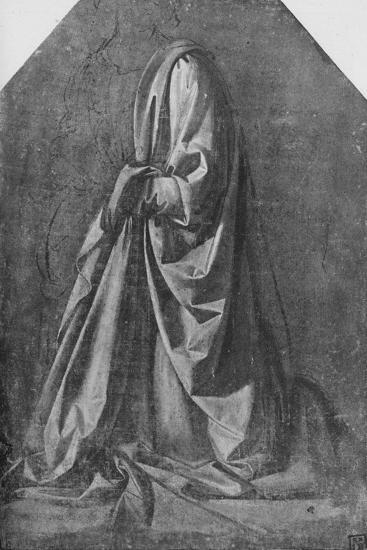 'Cast of Drapery for a Figure Kneeling to the Left', c1475 (1945)-Leonardo da Vinci-Giclee Print