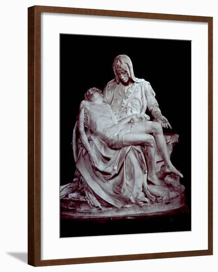 Cast of Michelangelo's 'Pieta'. the Original is in Saint Peter's in the Vatican--Framed Photographic Print