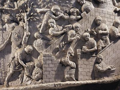 Cast of Trajan's Column, Detail of Soldiers Building Fortifications in Dacia--Giclee Print
