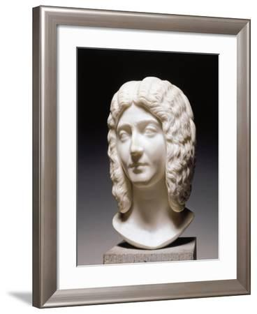 Cast Sculpture of Head of Roman Empress Julia Domna, Wife of Septimius Severus--Framed Giclee Print