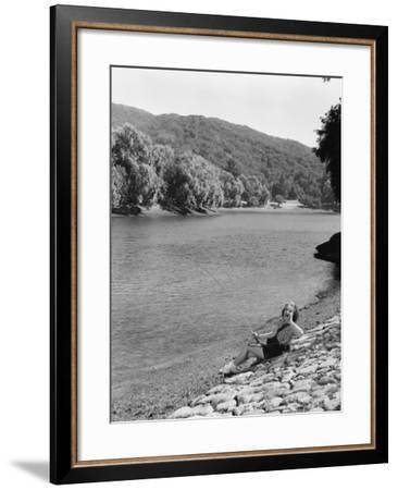 Cast Your Rod--Framed Photo
