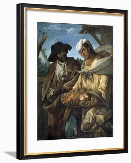 Casta Paintings, Mixed Race Family in Mexico-Miguel Cabrera-Framed Art Print