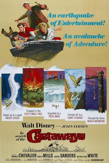"Castaways, 1962, ""In Search of the Castaways"" Directed by Robert Stevenson--Giclee Print"