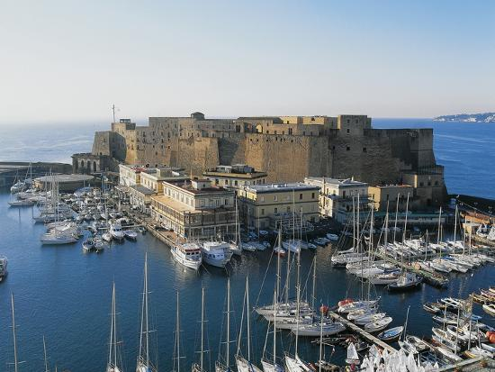 Castel Dell'Ovo (Egg Castle) and St Lucia Port, Naples, Campania, Italy--Photographic Print