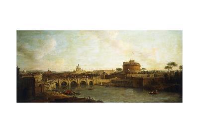 Castel Sant'Angelo and Ponte Sant'Angelo, Rome-Antonio Joli-Giclee Print