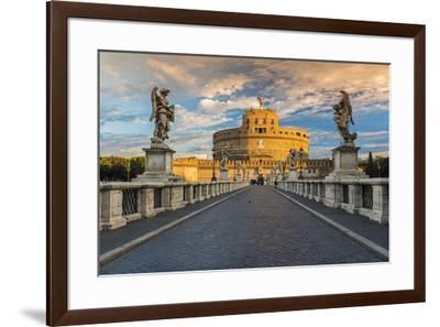 Castel Sant'Angelo or Mausoleum of Hadrian, Rome, Lazio, Italy-Stefano Politi Markovina-Framed Photographic Print