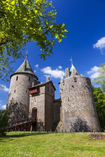 Castell Coch (Castle Coch) (The Red Castle), Tongwynlais, Cardiff, Wales, United Kingdom, Europe-Billy Stock-Photographic Print