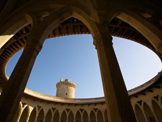 Castell De Bellver, Palma, Mallorca, Spain-Neil Farrin-Photographic Print