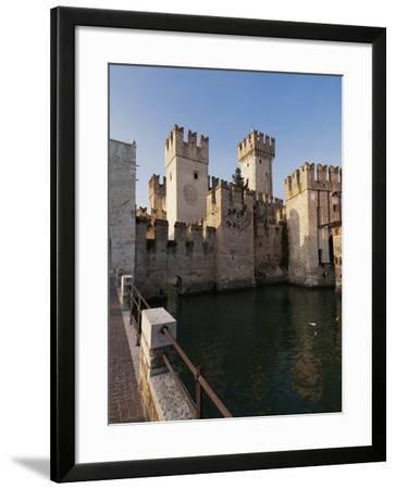 Castello Scaligero, Sirmione, Lago Di Garda (Lake Garda), Lombardy, Italy, Europe-Sergio Pitamitz-Framed Photographic Print