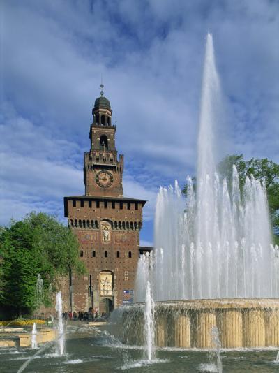 Castello Sforzesco, Milan, Lombardy, Italy, Europe-Hans Peter Merten-Photographic Print