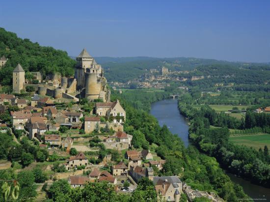 Castelnaud and the River Dordogne, Dordogne, Aquitaine, France, Europe-Roy Rainford-Photographic Print
