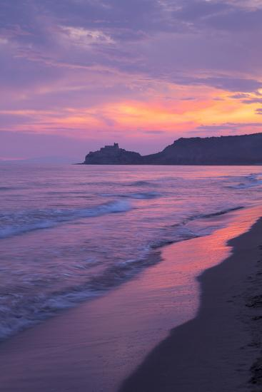 Castiglione Della Pescaia, Roccamare Beach at Sunset, Grosseto, Tuscany, Italy, Europe- John-Photographic Print