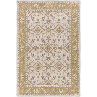 """Castille Area Rug - Light Gray/Gold 5' x 7'6""""--Home Accessories"""