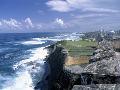 Castillo de San Cristobal Beach, Puerto Rico-Jim Schwabel-Photographic Print