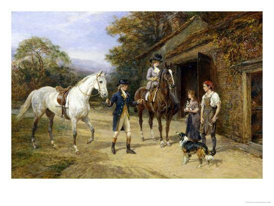 Casting a Shoe at the Blacksmith's-Heywood Hardy-Giclee Print